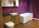 Wood finish showroom bathroom