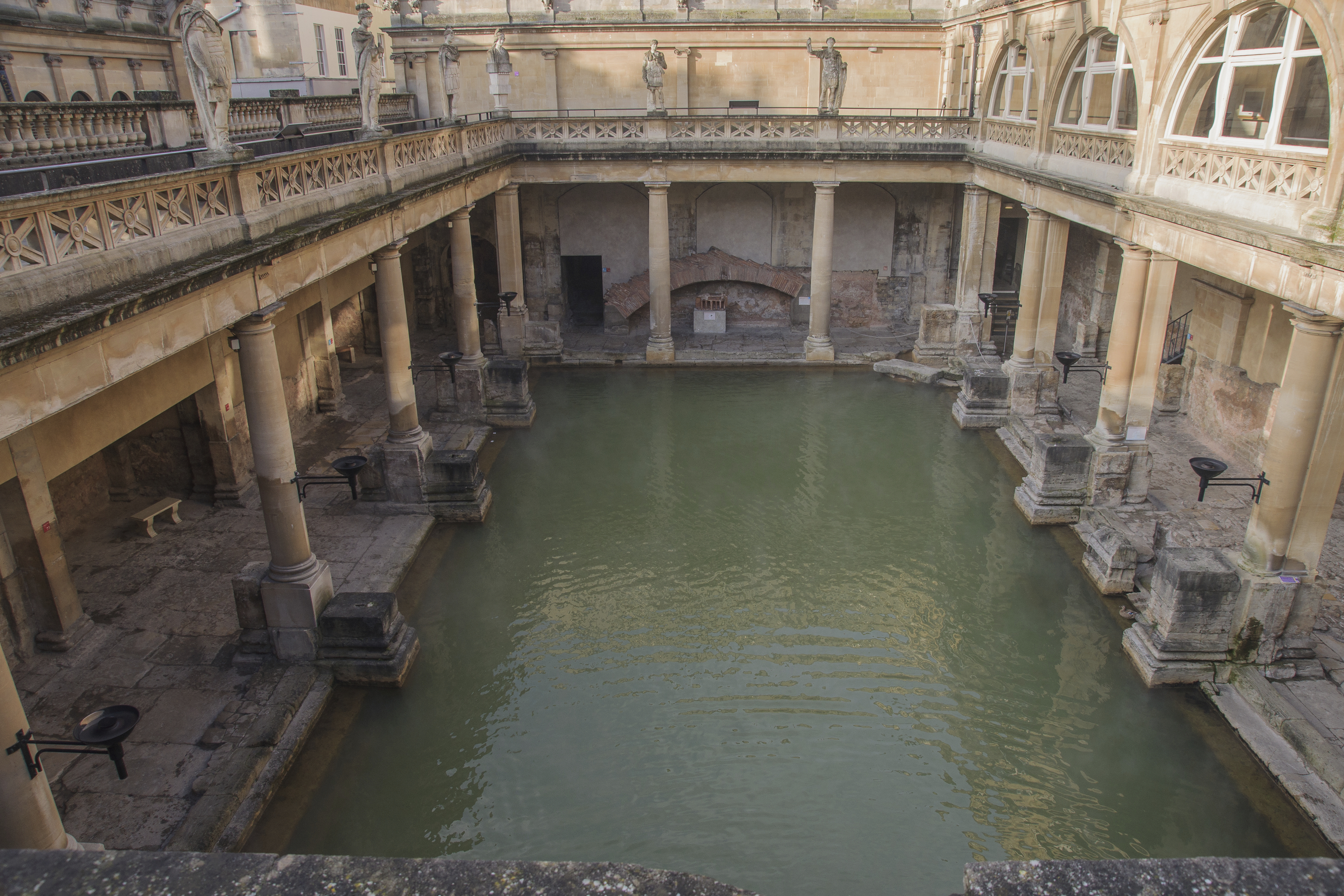 Ancient Roman Baths Bath Somerset England