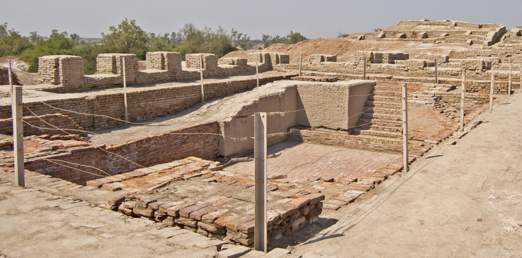 Mohenjo-daro is an archeological site in the province of Sindh, Pakistan. Built around 2600 BCE, it was one of the largest settlements of the ancient Indus Valley Civilization, and one of the world's earliest major urban settlements, contemporaneous with the civilizations of ancient Egypt, Mesopotamia, and Crete.