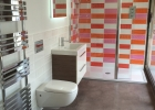 Quirky tiled bathroom Bristol